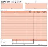 Detailní obrázek výrobku Dodací list - daňový doklad 20x21